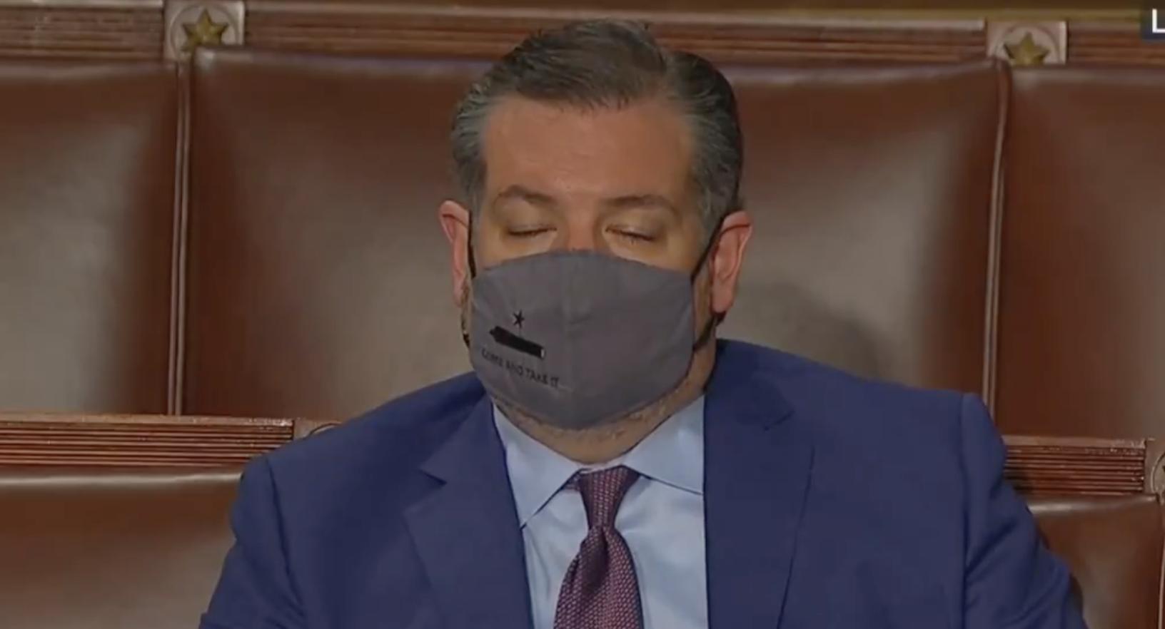 Biden Bores Cruz to Sleep During Joint Address to Congress