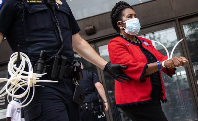 Texas Rep. Sheila Jackson Lee arrested for protesting voting rights legislation